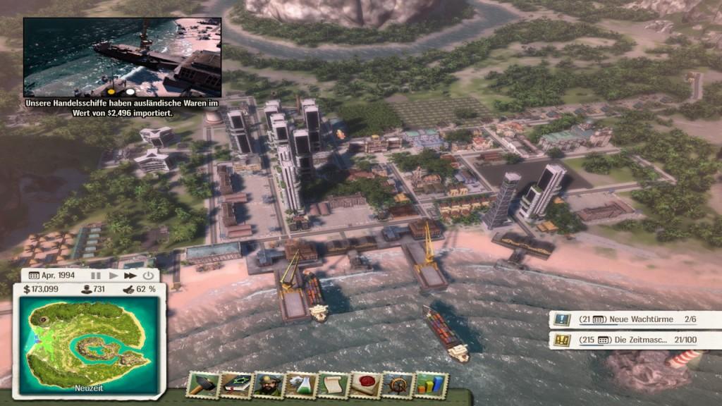 Mit der Zeit mausert sich Tropico zu einer dicht besiedelten Insel