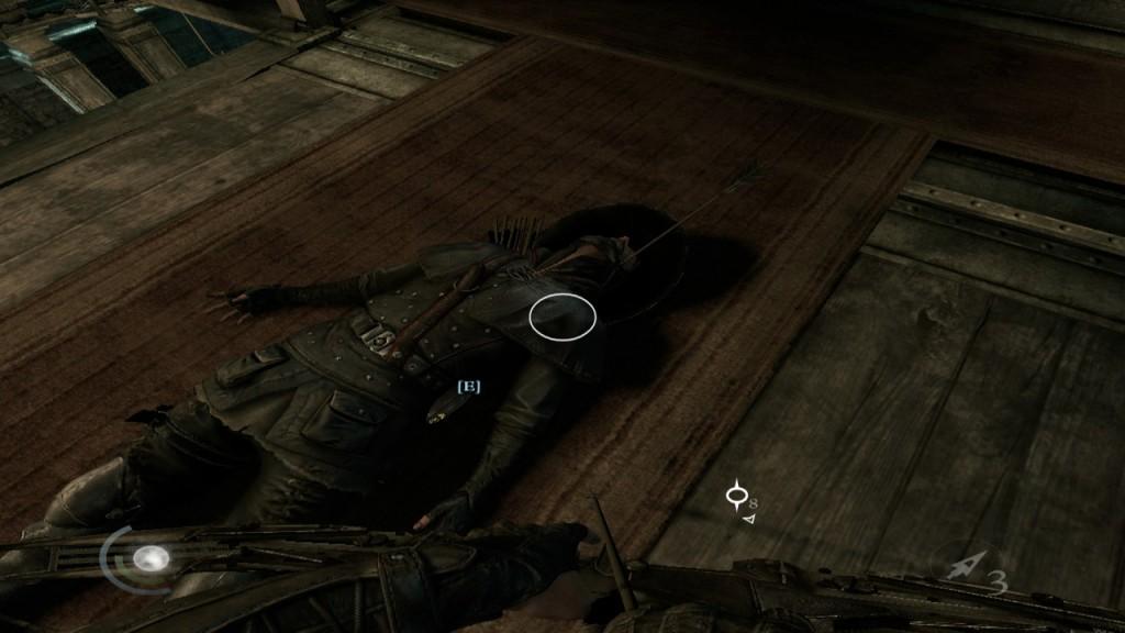Tut mir leid - Mit einem Knüppel oder Pfeil und Bogen kann man die Wachen ausschalten