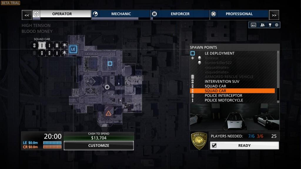 Battlefield Hardline - Menü