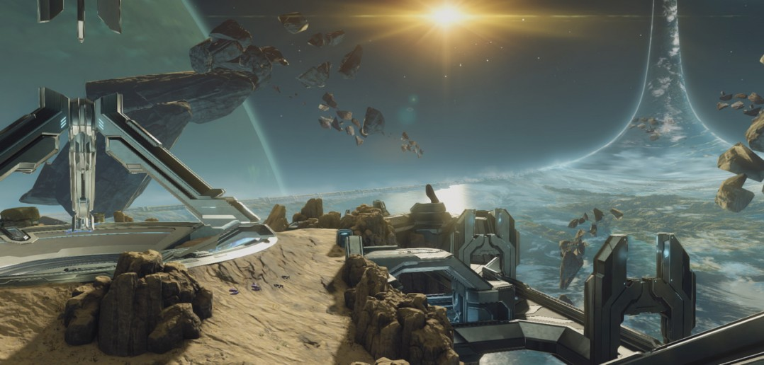 E3 2014 Halo 2 Anniversary Ascension Establishing Playground in the clouds 1078x516 - Halo Master Chief Collection - Screenshots