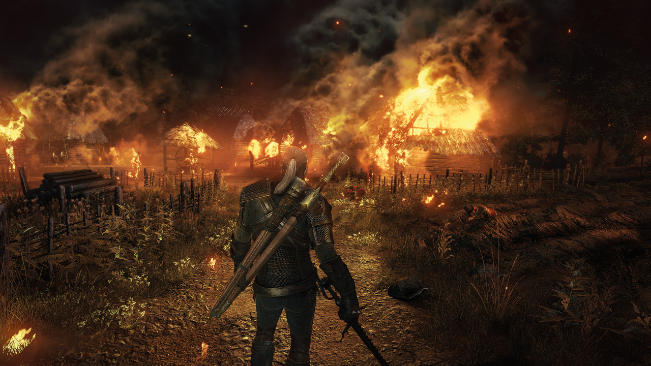 The Witcher 3 Wild Hunt Burning Village 1402422236 - The Witcher 3: Wild Hunt - 16 kostenlose DLC für alle Spieler angekündigt
