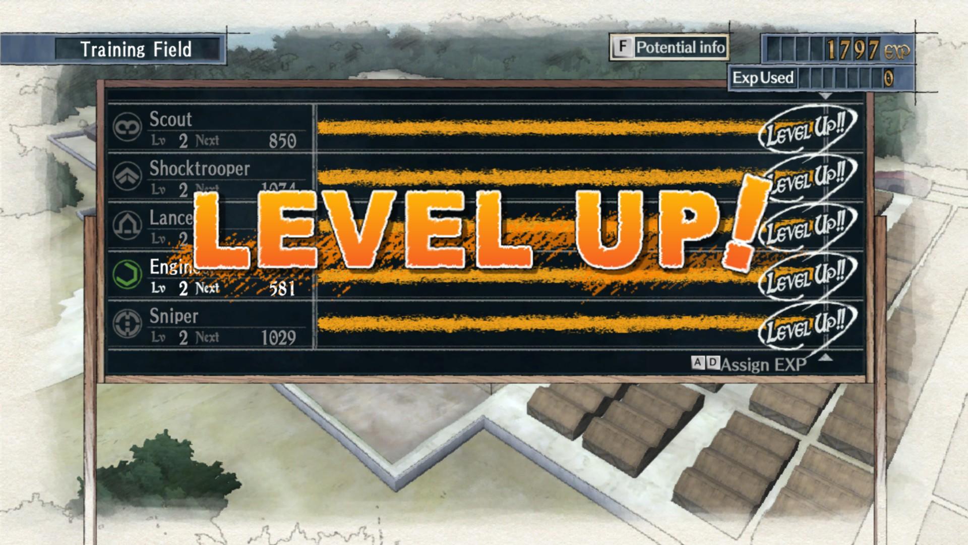 Soldaten Klassen Level up