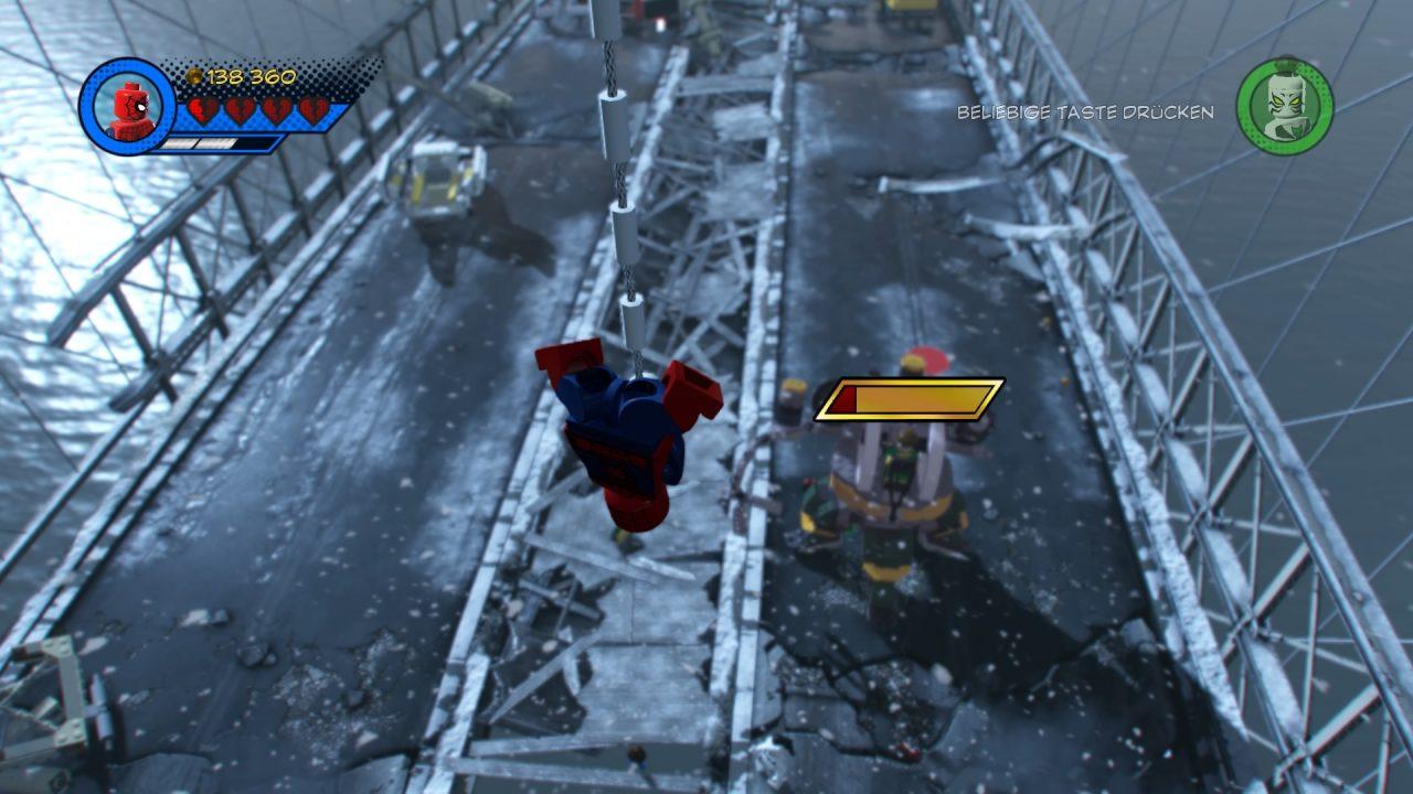 Spiderman vs. Octavius.