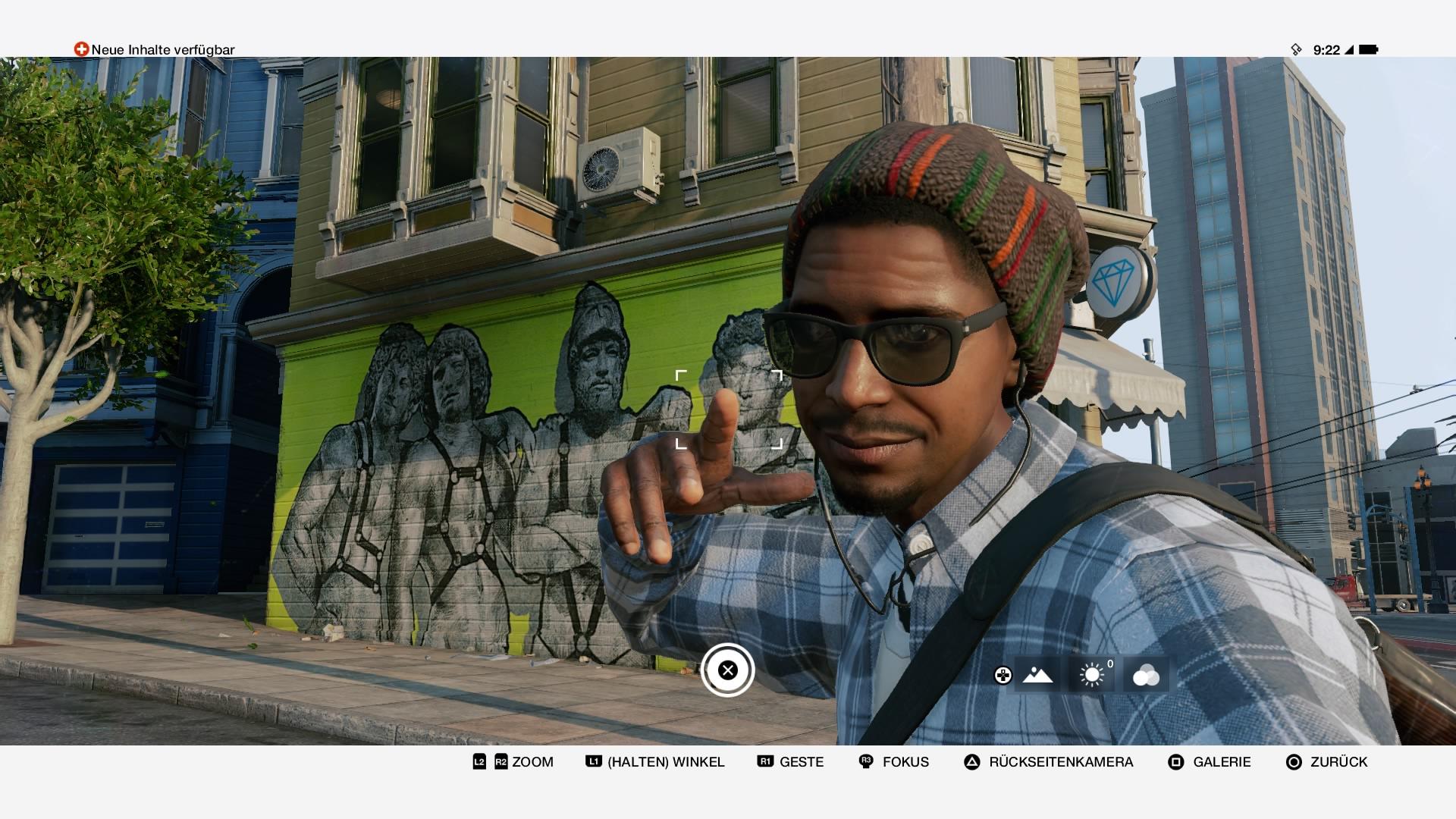 Selfie-Time! Auch Watch Dogs 2 geht mit der Zeit.