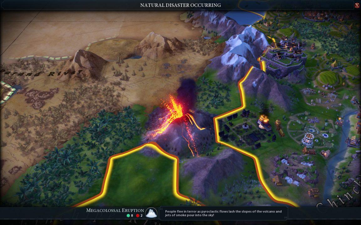 Zum Glück demoliert der Vulkanausbruch nur das Universitätsviertel und keinen wertgeschätzten Teil der Gemeinschaft.