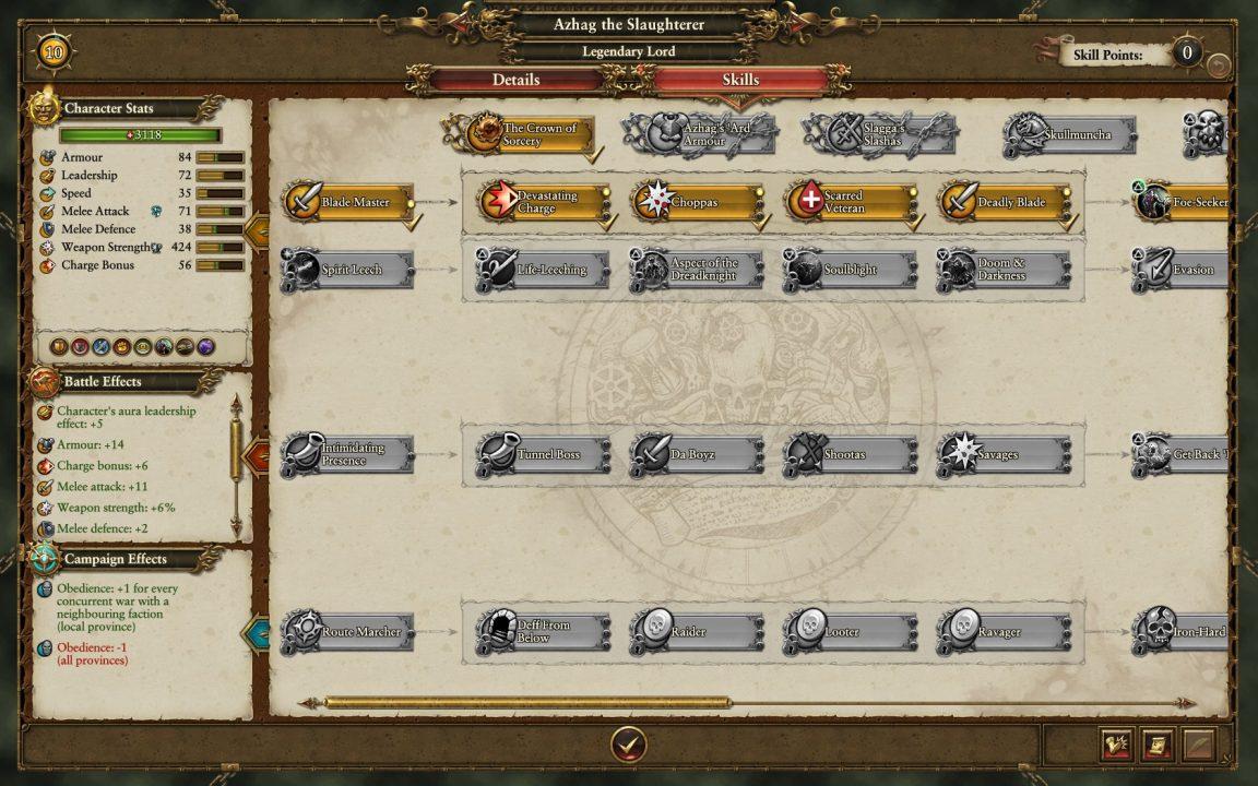 Skilltrees und Rollenspielelemente stehen Total War erstaunlich gut.