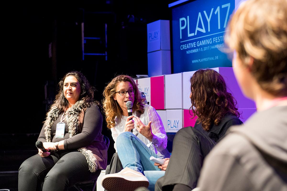 PLAY17 Talk mit Bürgerschaftspräsidentin Carola Veit © Bente Stachowske / jaf e.V. 2017