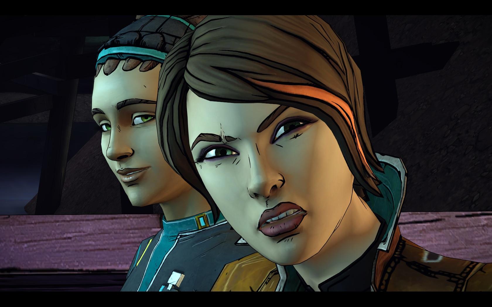In den Filmsequenzen sehen die Gesichtsanimationen und Charaktermodelle super aus... (Fiona rechts im Bild)