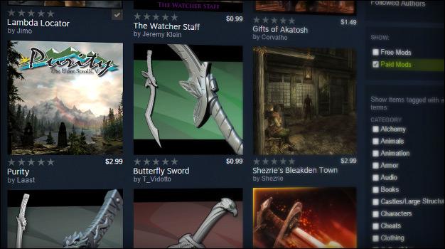 Steam Paid Mods