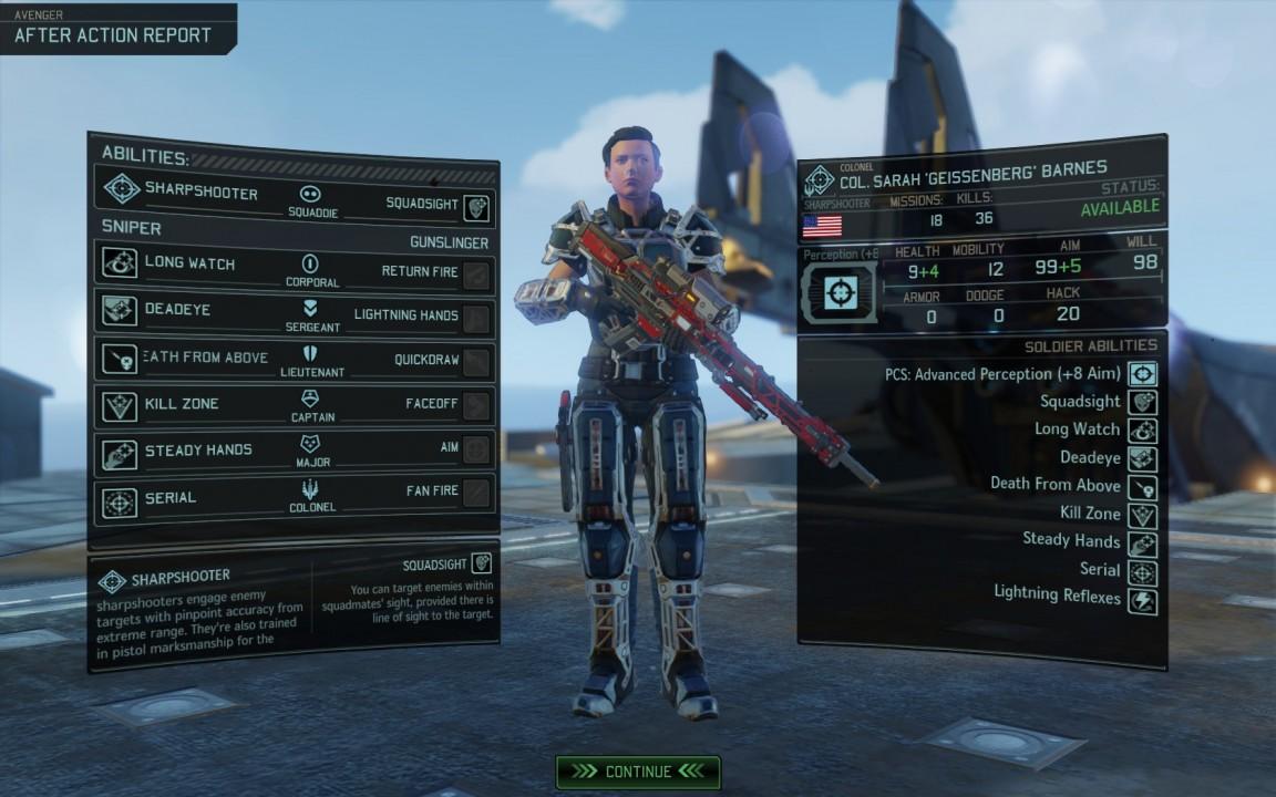 Diel Fähigkeit Serial lässt einen Sniper immer weiterschießen, solange jeder Schuss tödlich ist.